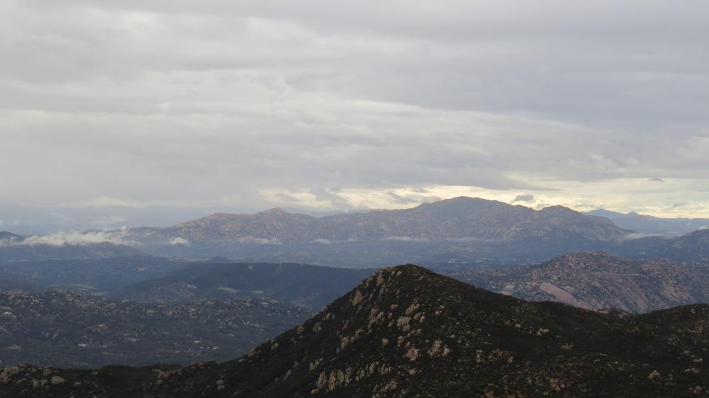 El Cajon Mountain from Ramona Overlook