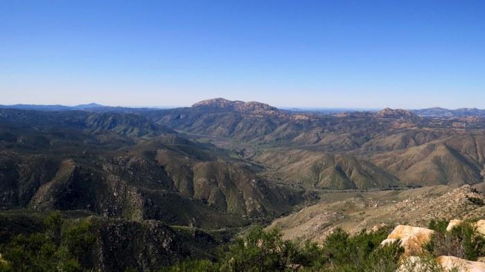 Looking southwest toward El Cajon Mountain